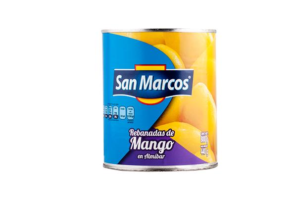 MANGO REBANADO EN ALMIBAR MARCA SAN MARCOS 800 G